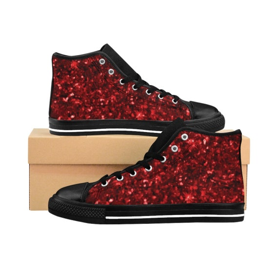 Dorothy's Ruby Red High-top Sneakers, Inspired By The Wizard Of Oz