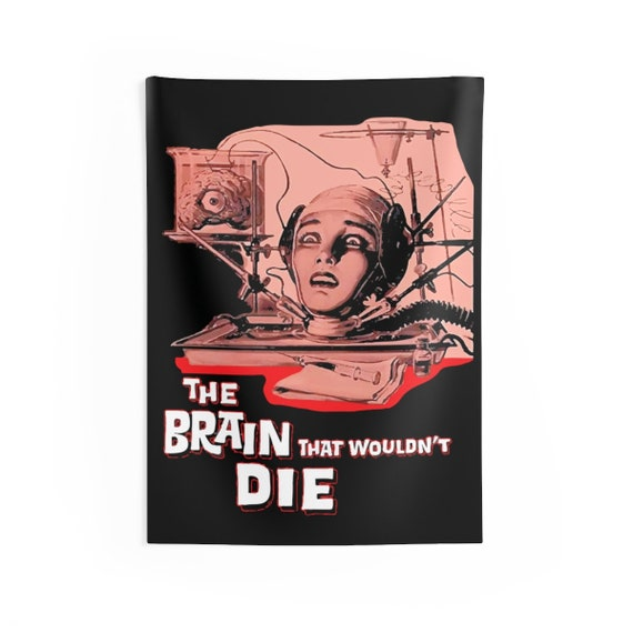 "The Brain That Wouldn't Die, 26""x36"" Indoor Wall Tapestry, 1962 Horror Movie Poster"