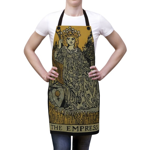 The Empress Tarot Card, Cookout Apron, Vintage, Antique Illustration
