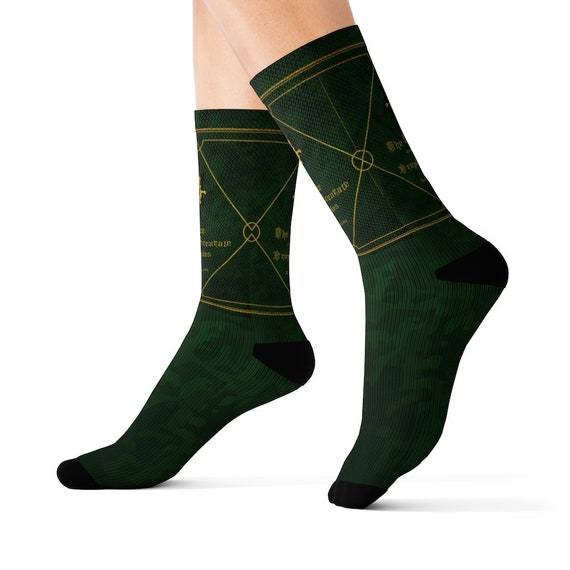 The Nice and Accurate Prophecies of Agnes Nutter, Crew Socks, Inspired By Good Omens
