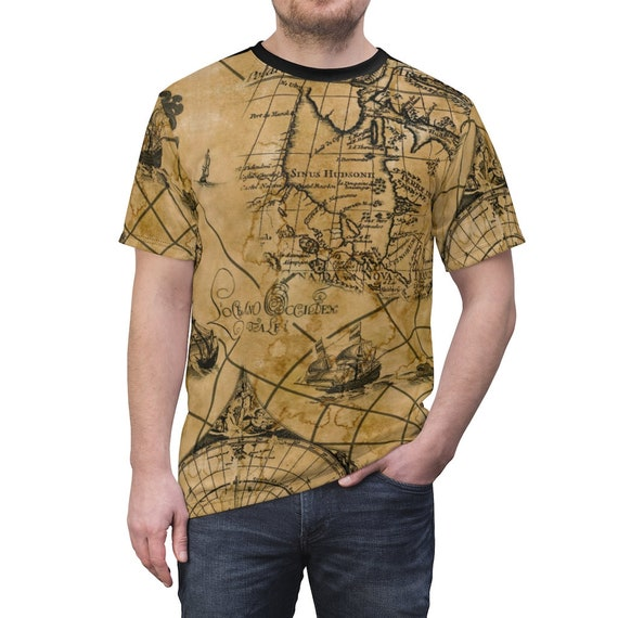 Stained Antique Map Shirt
