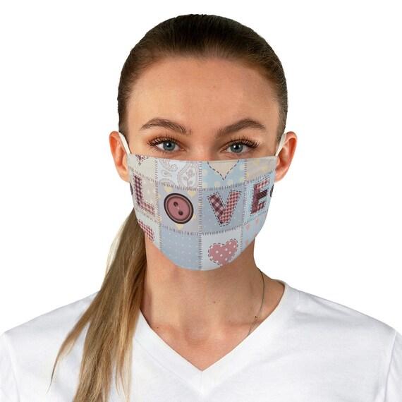 Love Quilt Cloth Face Mask, Washable, Reusable