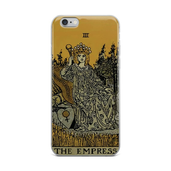 The Empress Tarot Card, iPhone Case, Vintage Illustration