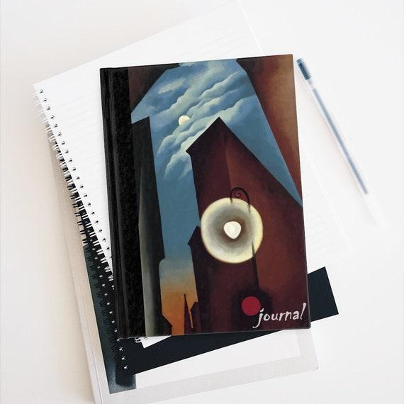New York Street With Moon Hardcover Ruled Line Journal, Georgia O'Keeffe
