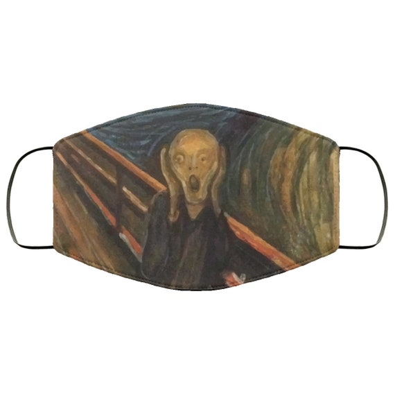 The Scream, Large Face Mask, Breathable, Washable, Reusable, Edvard Munch