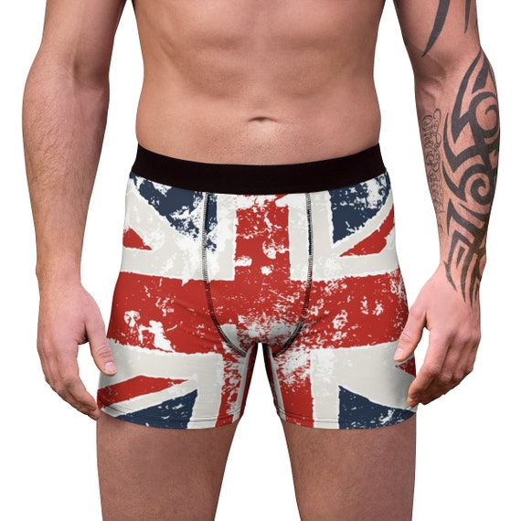 Grunge United Kingdom Flag, Men's Boxer Briefs