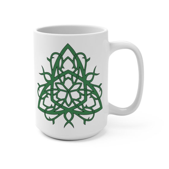 Celtic Tree Of Life Knot v2, 15oz White Ceramic Mug, Irish, Scottish, Welsh, Coffee, Tea