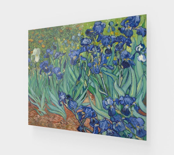 Irises, Printed On Acrylic, Vintage Painting, Van Gogh 1890