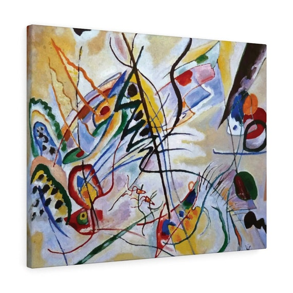 """Violet Wedge, 30""""x24"""" Gallery Wrap Canvas, Wassily Kandinsky, Abstract"""