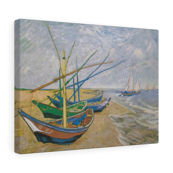 Fishing Boats on the Beach Canvas Gallery Wrap, Vincent Van Gogh, 1888