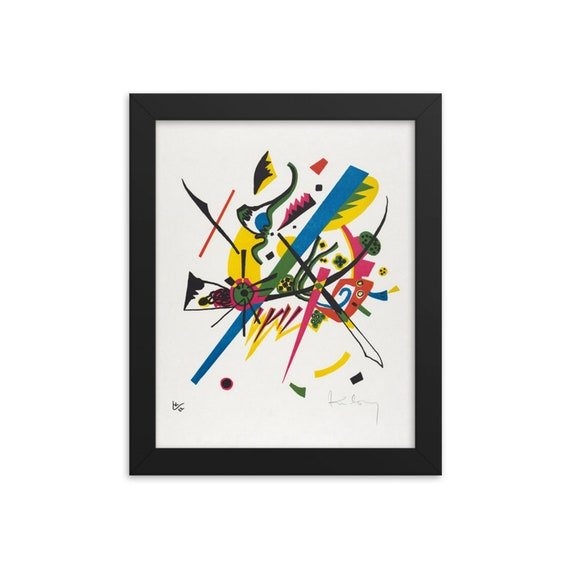 """Small Worlds #1, 8""""x10"""" Framed Giclée Poster, Black Wood Frame, Acrylic Covering, Wassily Kandinsky, Circa 1922, Abstract"""