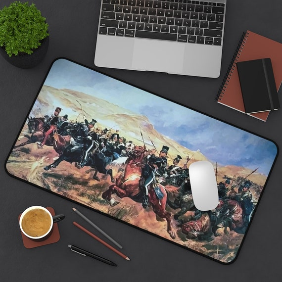 The Charge Of The Light Brigade Desk Mat, Battle of Balaclava, Crimean War, Military History