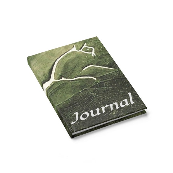 Uffington White Horse, Hardcover Journal, Ruled Line, Ancient Geoglyph