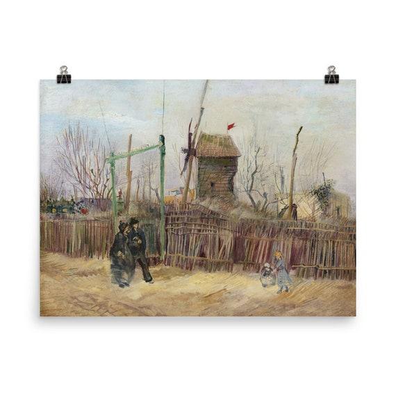 Street Scene In Montmartre v1 Giclée Poster, Vincent Van Gogh, 1887