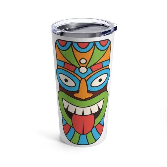 Tiki Mask 20oz Tumbler, Retro, Vintage, Polynesia