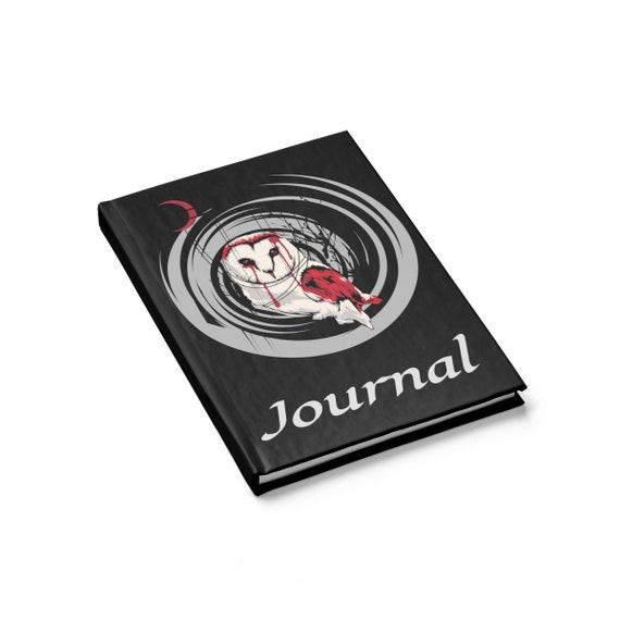 Blood Owl, Hardcover Journal, Ruled Line, Spirit Animal