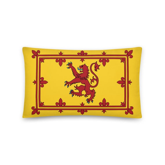 "Lion Rampant of Scotland, 20""x12"" Throw Pillow, Royal Banner of the Royal Arms of Scotland, Scottish Pride"