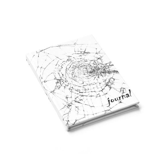 Shattered Glass, Hardcover Journal, Ruled Line