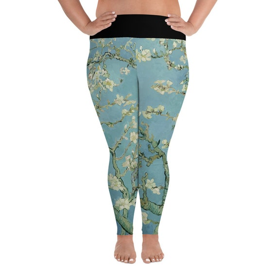 Almond Blossoms, Plus Size Leggings, Vintage Painting, Vincent Van Gogh, 1890