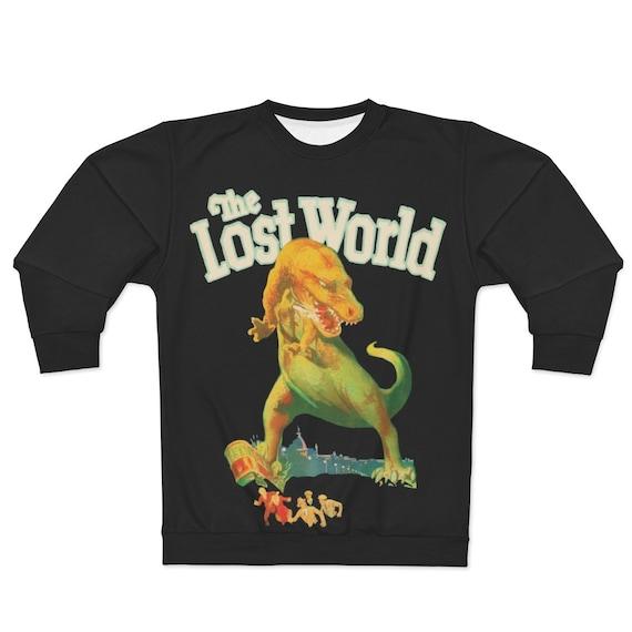 The Lost World, Black Unisex Sweatshirt, Vintage 1925 Monster Movie Poster