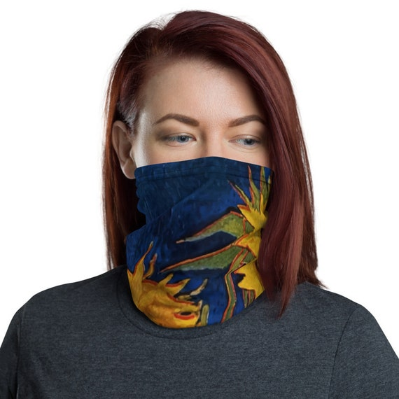 Six Sunflowers, Neck Gaiter, Vincent Van Gogh