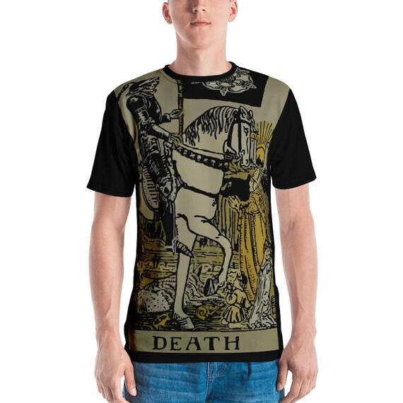 Death Tarot Card, Unisex T-shirt, Vintage, Antique Illustration
