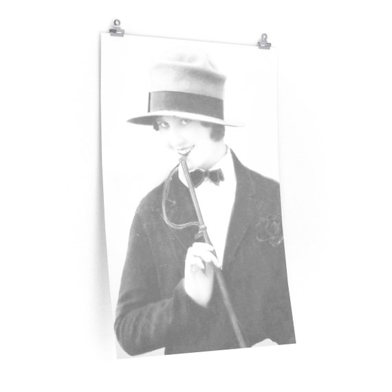 Naughty Thoughts - Fine Art Poster With An Image From An Antique Vintage Photo,  Circa 1920.