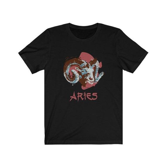 Retro Aries Bella+Canvas Black T-shirt, Zodiac Sign, Astrology Gift