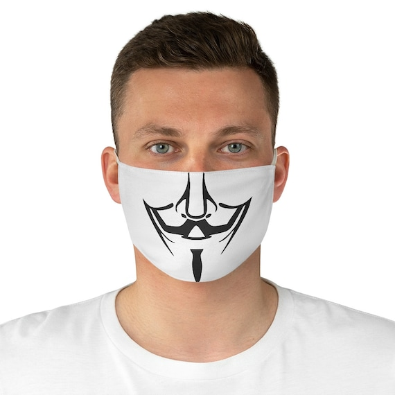 Guy Fawkes, Cloth Face Mask, Washable, Reusable, Anonymous, Activism