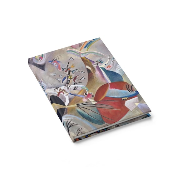 In Grey, Hardcover Journal, Ruled Line, Vintage Abstract Painting, Wassily Kandinsky, 1919