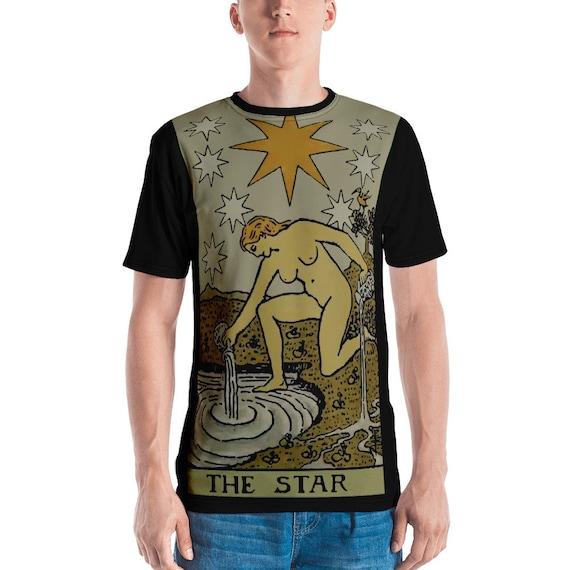 The Star  Tarot Card, Unisex T-shirt, Vintage, Antique Illustration, AOP