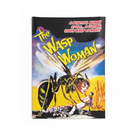 """The Wasp Woman, 26""""x36"""" Indoor Wall Tapestry, 1959 Sci-Fi Horror Movie Poster"""