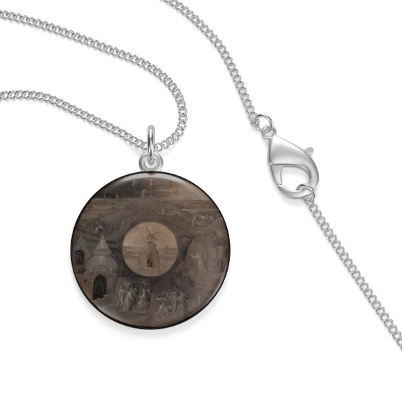 Scenes From The Passion Of Christ, Sterling Silver Necklace, Hieronymus Bosch, Circa 1490-95