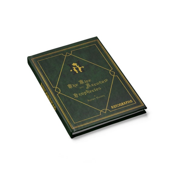 Autograph Book, The Nice and Accurate Prophecies of Agnes Nutter, Hardcover, Blank Pages, Good Omens