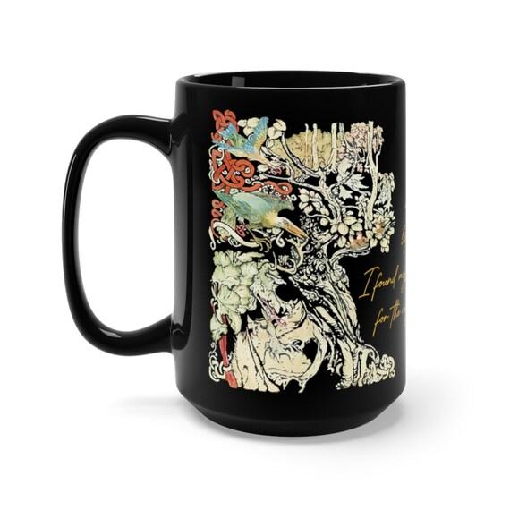 A Dark Wood, Black 15oz Ceramic Mug, Arthur Rackham, Dante's Inferno Quote