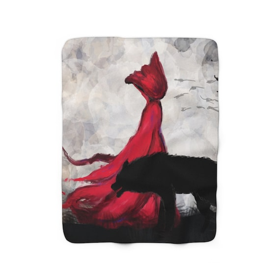Red Riding Hood And Companion Sherpa Fleece Blanket