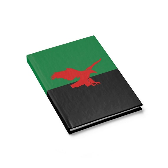 House Atreides v2, Hardcover Journal, Ruled Line, Inspired From Dune, Cosplay, Red Hawk, Banner, Notebook
