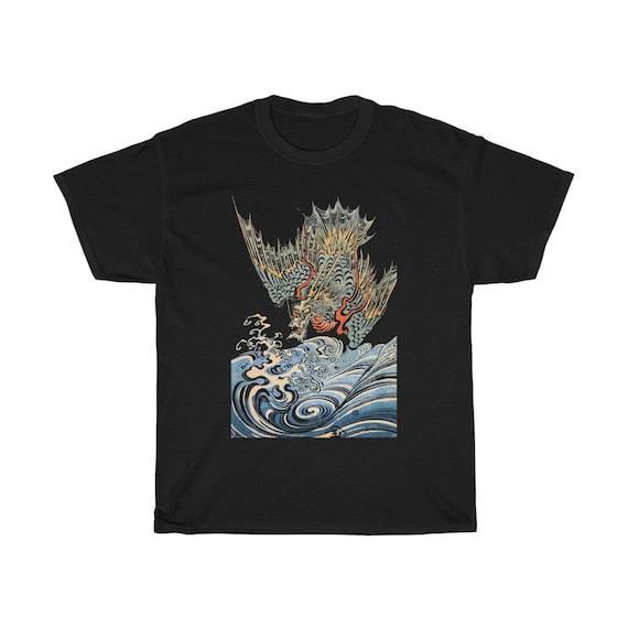 Japanese Sea Dragon 100% Cotton T-shirt, Japanese Mythology, Sea Serpent, Sea Monster