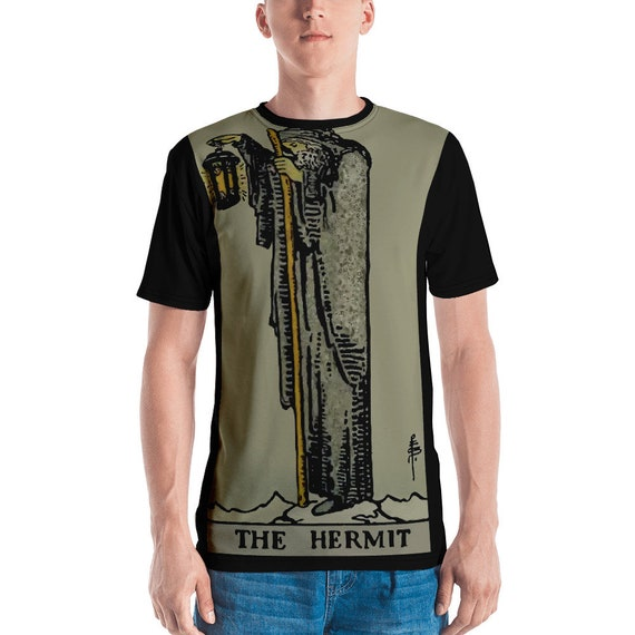 The Hermit Tarot Card, Unisex T-shirt, Vintage, Antique Illustration