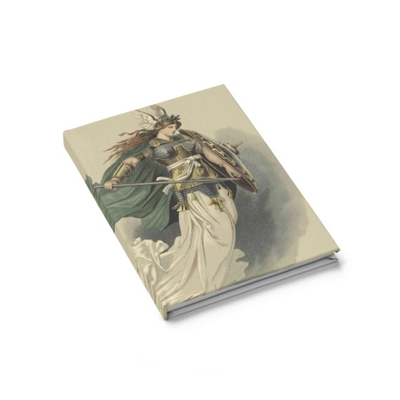 Valkyrie, Hardcover Journal, Ruled Line, Vintage Illustration, Carl Emil Doepler, 1876