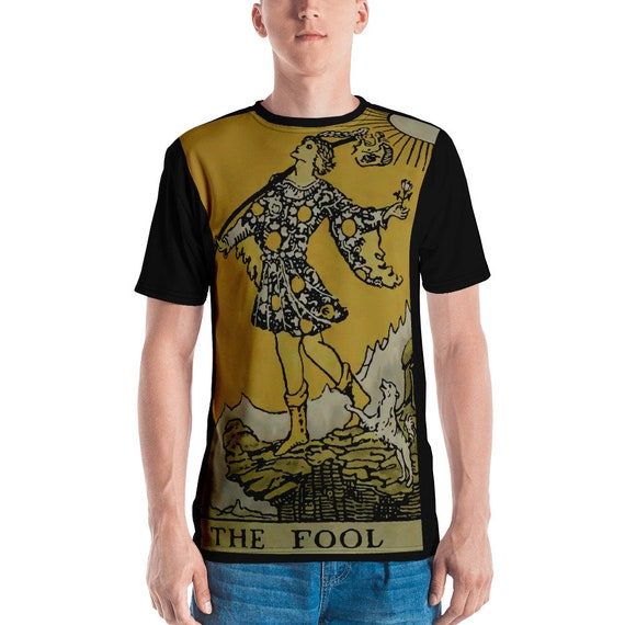 The Fool Tarot Card, Unisex T-shirt, Vintage,Antique Illustration