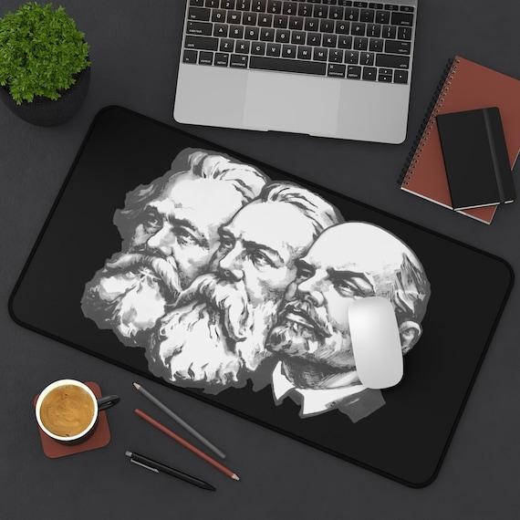 Marx Engels Lenin v2 Desk Mat, Socialism, Communism, Marxism, Activism