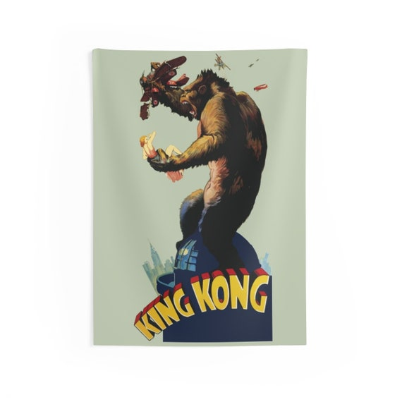 """King Kong, 26""""x36"""" Indoor Wall Tapestry, Vintage 1933 Movie Poster"""