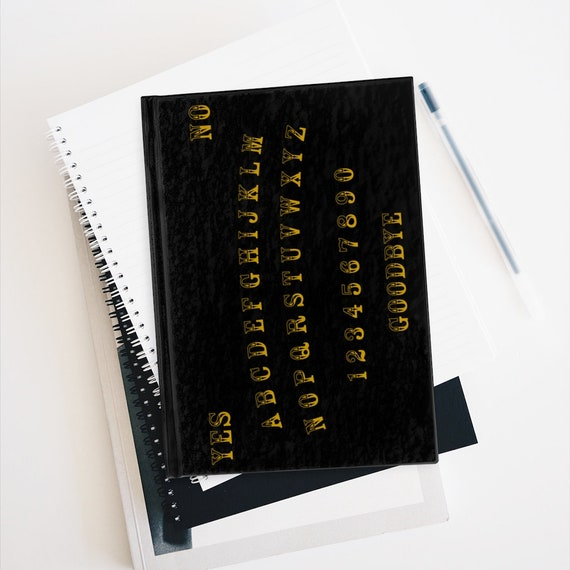 Gold Letter Ouija Board Hardcover Sketchbook, Blank Pages