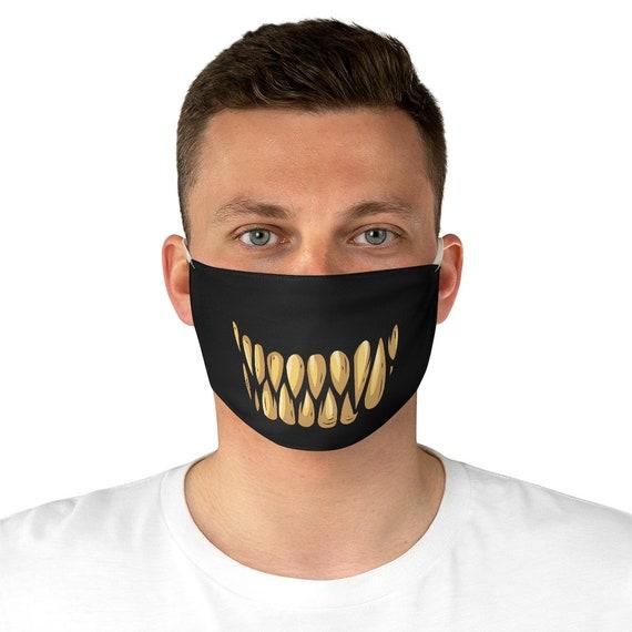 Monster Teeth, Cloth Face Mask, Washable, Reusable, Scary, Halloween