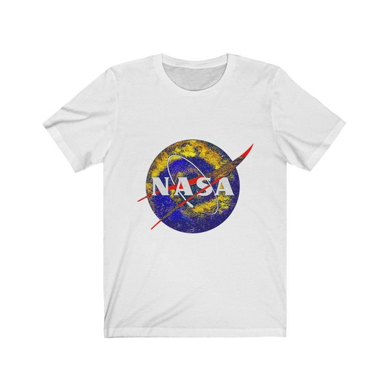 NASA Starry Night White Bella+Canvas Soft T-shirt