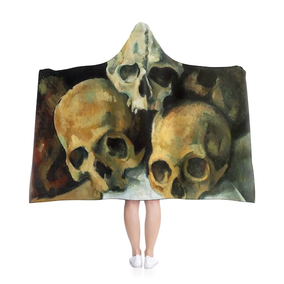Pyramid Of Skulls, Hooded Blanket, Vintage Painting, Cezanne 1900