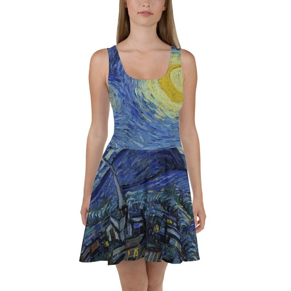 Starry Night, Skater Dress, Vintage Painting, Van Gogh 1889