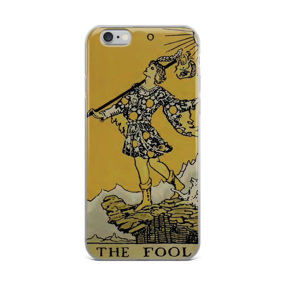 The Fool Tarot Card, iPhone Case, Vintage Illustration