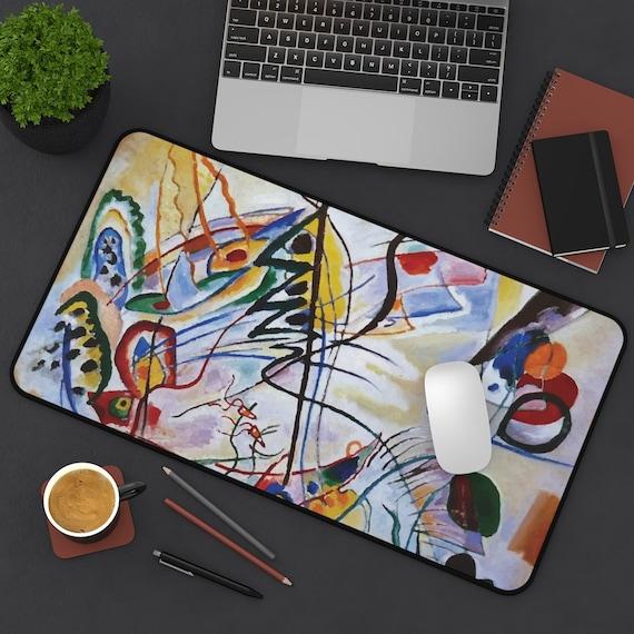 Violet Wedge Desk Mat, Wassily Kandinsky, Abstract